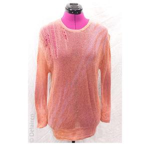 Tie Dye Cashmere Merino Open Knit Shredded Sweater